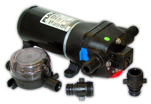 Switch Flojet Pressure - FloJet 04325143A Marine Heavy Duty Deck Wash Pump, 4.5 GPM, 40 PSI, 12 Volt, 6 Amp