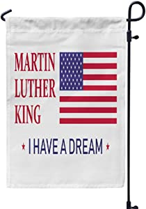 LILYMUA Garden Flag, King Day I Dream Abstract African America American Seasonal Garden Flags 12x18 Outdoor Decorative Flags Weatherproof Flag Double Sided Flags for Garden Yard House Decorations