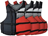 Stohlquist Fit PFD 4 Pack Transport Canada Approved, Red, Universal