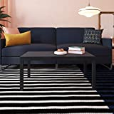 Dorel Home Products Parsons Modern Coffee Table, Black