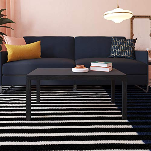 Ameriwood Home Parsons Modern Coffee Table, Black