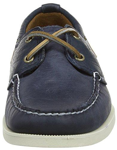 Timberland Heritage  - Mocasines de cuero para hombre, Color Azul ( Navy Blue Smooth), Talla  45.5