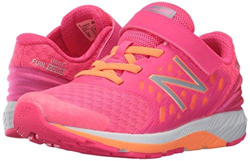 New Balance Girls' Urge V2 Hook and Loop Road-Running-Shoes, Pink, 9 Wide US Infant
