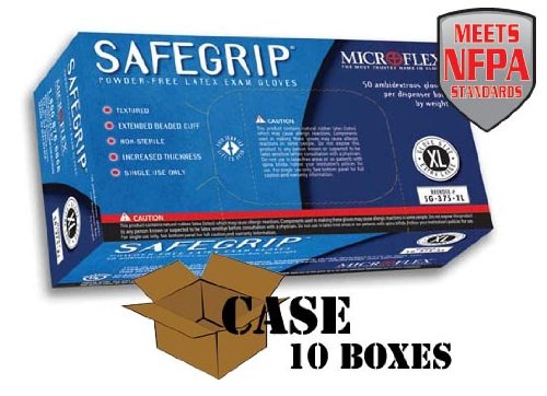 Microflex - SafeGrip Powder-Free Latex Exam - Case Size X-Large by Microflex