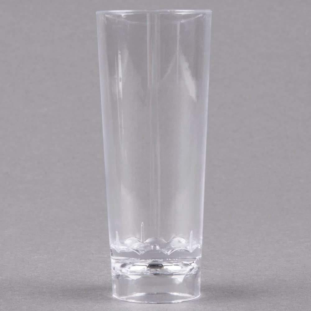 Fineline Tiny Temptations 6413-CL 2 oz. Tiny Barware Clear Cordial Plastic Shot Glass - 200/Case by Fine-line