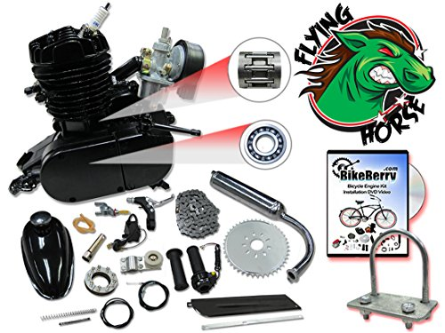 48cc Flying Horse Black Bicycle Engine Kit- 2 Stroke by Flying Horse