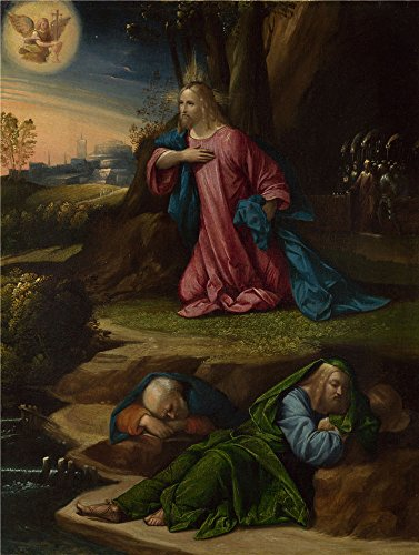 Oil Painting 'Garofalo The Agony In The Garden ' Printing On Perfect Effect Canvas , 24 X 32 Inch / 61 X 81 Cm ,the Best Study Decor And Home Gallery Art And Gifts Is This Beautiful Art Decorative Prints On Canvas (Log American Garden Swing)
