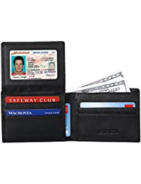 Mens Wallet - Excellent RFID Blocking Napa Genuine Leather Bifold Wallet For Men