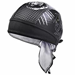 The Dew rag is constructed using a hi-tech moisture management fabric that wicks away moisture quickly and a headband ensures sweat stays out of your eyes.  An elastic band and tie straps allows for the perfect fit regardless of head size. Su...