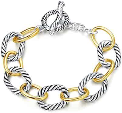 UNY Bracelet Designer Brand Inspired Antique Women Jewelry Cable Wire Vintage Valentine