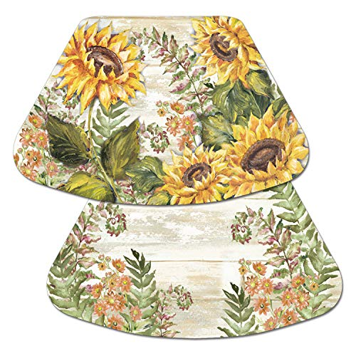 (Counterart Reversible Wedge Placemat -Sunflowers)