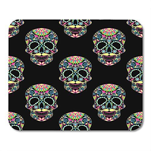 Emvency Mouse Pads Zentangle Color Sugar Skull for