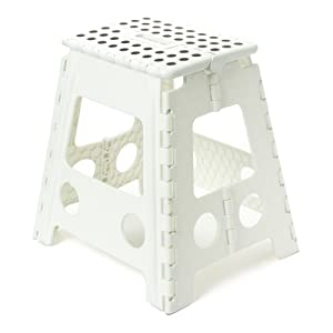 BUCKLE UP Foldable Plastic Stool for Stepping Upward or Sitting (Multicolour)