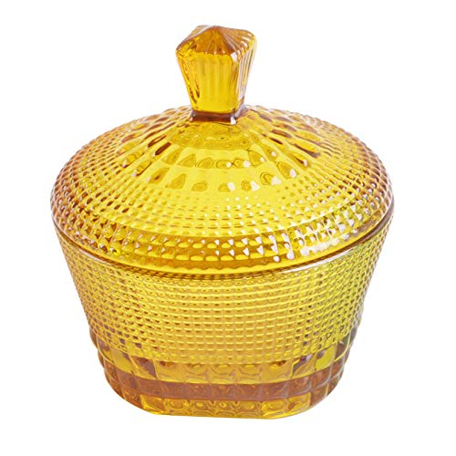 stained Glass Candy Cans European Retro Storage Jars Spice Jars Tea Cans Dried Fruit Jars Candy Cans (amber)