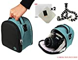 Laurel Travel Camera Bag Case For Nikon D-Series D3, D300, D3000, D300s, D3100, D3200, D3300, D3s, D3X DSLR Camera + Screen Protector + Screen Protector + Mini Tripod