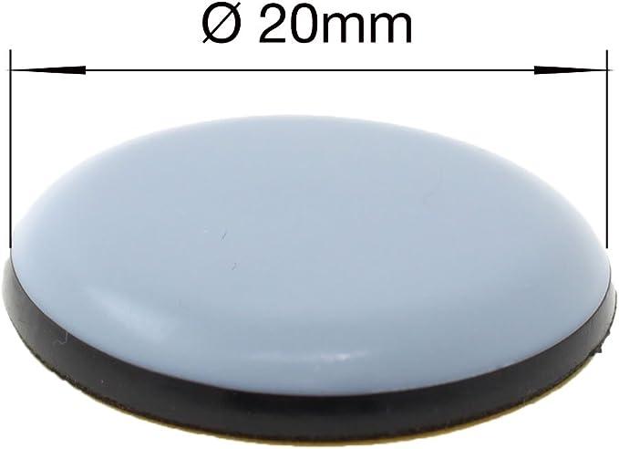 Lot de 16 Patins adh/ésifs pour meubles Lifeswonderful/® 70 mm nombreuses tailles PTFE t/éflon