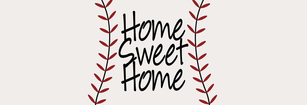 Baseball & Softball Home Sweet Home Premium Bed Runner Scarf Twin/Full/Queen/King Size by Unique Textile Printing