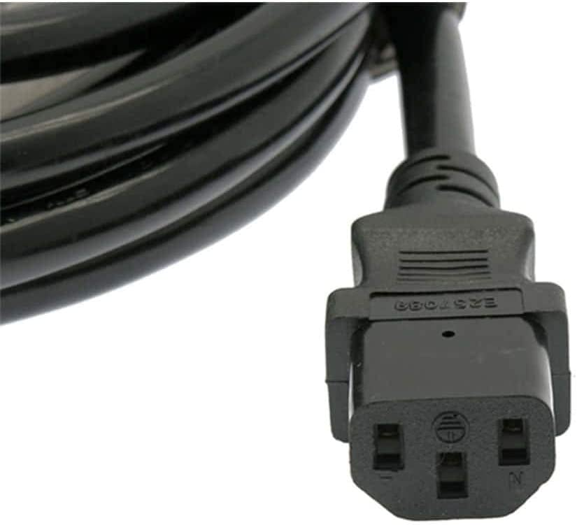 10FT Power Extension Cord C13 to C14 Black//SJT 16//3-12PK