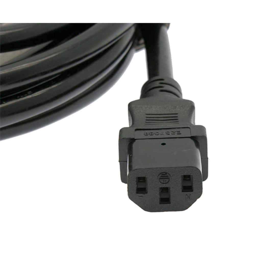 10Ft Power Extension Cord C13 to C14 Black//SJT 14//3-24PK