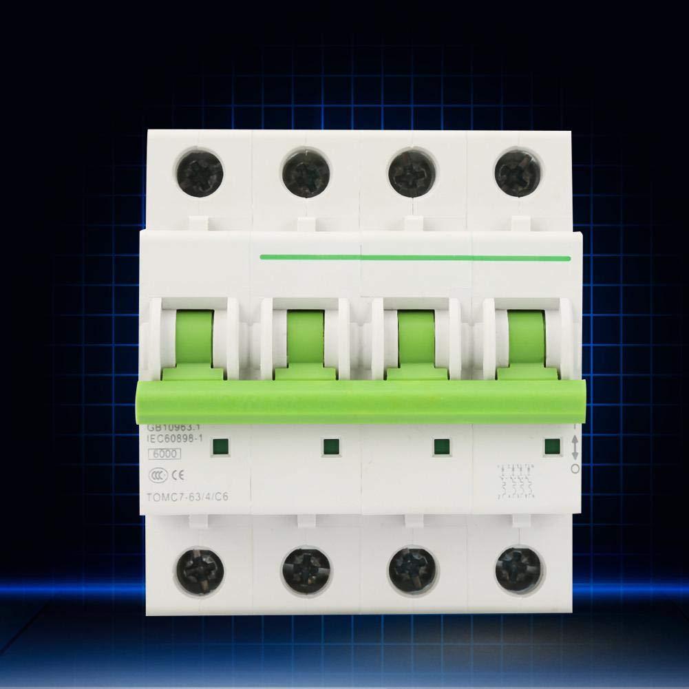 16A Disjoncteur TOMC7-63 4P C-type 6KA Disjoncteur miniature Commutateur dair de protection de fuite 380V//415V AC