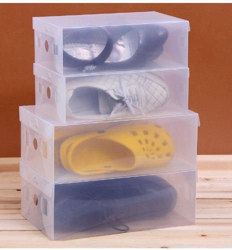 40 Packs Clear Plastic Shoe Storage Transparent Boxes
