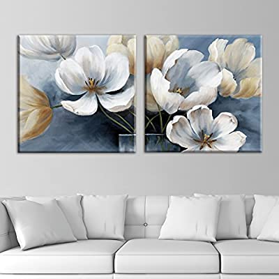 Pretty Visual, 2 Panel Square Vintage Style Flower Petals x 2 Panels, Made For You