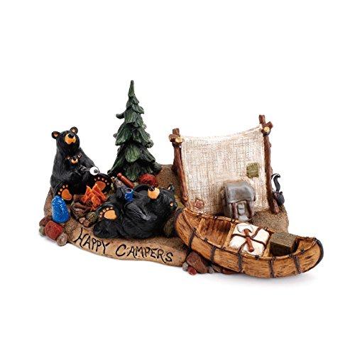 DEMDACO Happy Campers Black Bear 5 x 11.5 Hand-cast Resin Figurine Sculpture Big Sky Bearfoots Bear