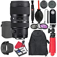 Sigma 50-100mm f/1.8 DC HSM Art Lens for Canon + Accessory Bundle