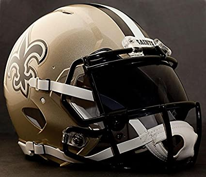 72f145224 Image Unavailable. Image not available for. Color  Riddell Speed New  Orleans Saints NFL Authentic Football Helmet with Dark-Tint Eye Shield