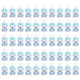 50PCS Candy Bottle Party Gifts Baby Shower Bottle Gadgets Party Favors Baby Feeding Bottle Design Baby Girl Boy(Blue)