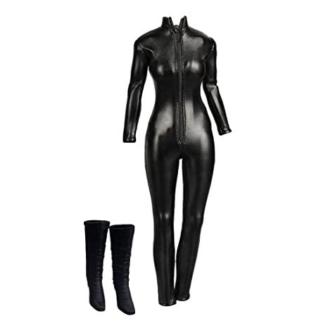 Image Unavailable. Image not available for. Color  Fityle 1 6 Scale Female  Body Jumpsuit High Heel Shoes for 12inch Action Figure Doll ae298a5e45d0