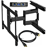 TV Wall Mount,Everstone Dual Articulating Arm (16.7