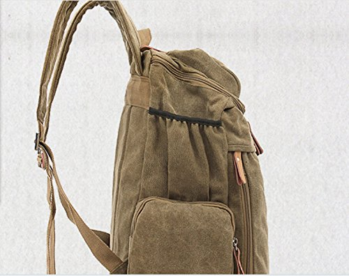 Travel Leisure Backpack Canvas Retro purpose Multi Woman Beige Business Man And Outdoor qwaX8Y