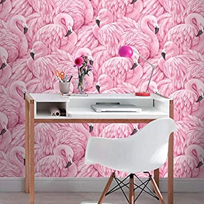 Rasch U K Limited Rasch Portfolio Pink Black Flamingo Bird