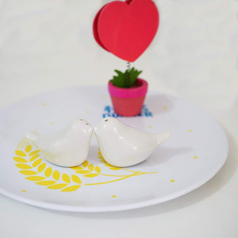 floratek 20/Sets boda Favor amor p/ájaro salero y pimentero Set Partido caja de regalo con paquete 40/pcs