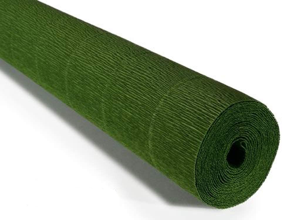 Floristrywarehouse Rollo De Papel Crepé 6 35 Oz Color Verde Hoja 19 7 In De Ancho X 65 6 Ft De Largo Arte Manualidades Y Costura