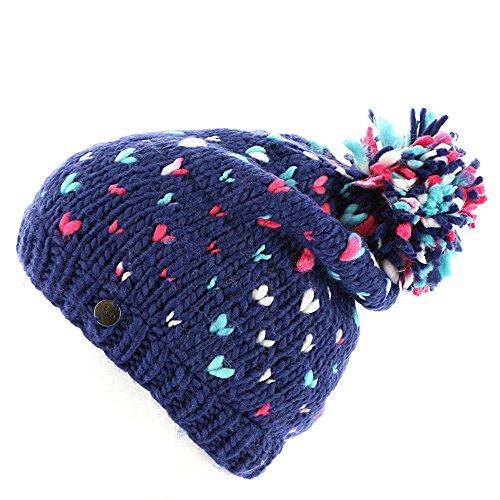(Roxy Girls Dena Beanie Hat, Blue Print, One Size)