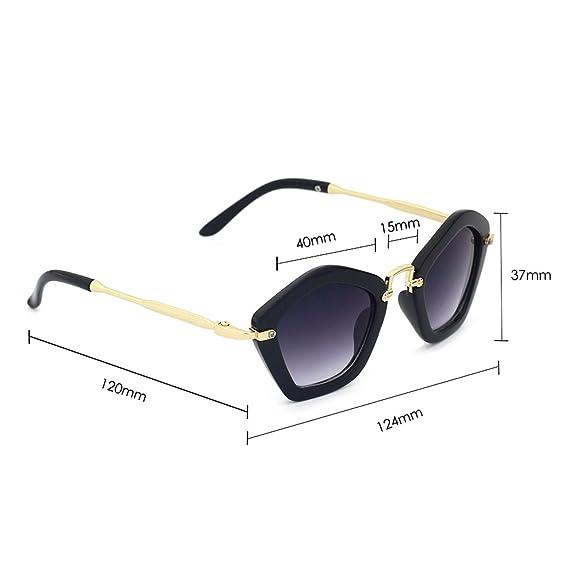 Amazon.com: Gafas de sol para niños con diseño de pentágono ...
