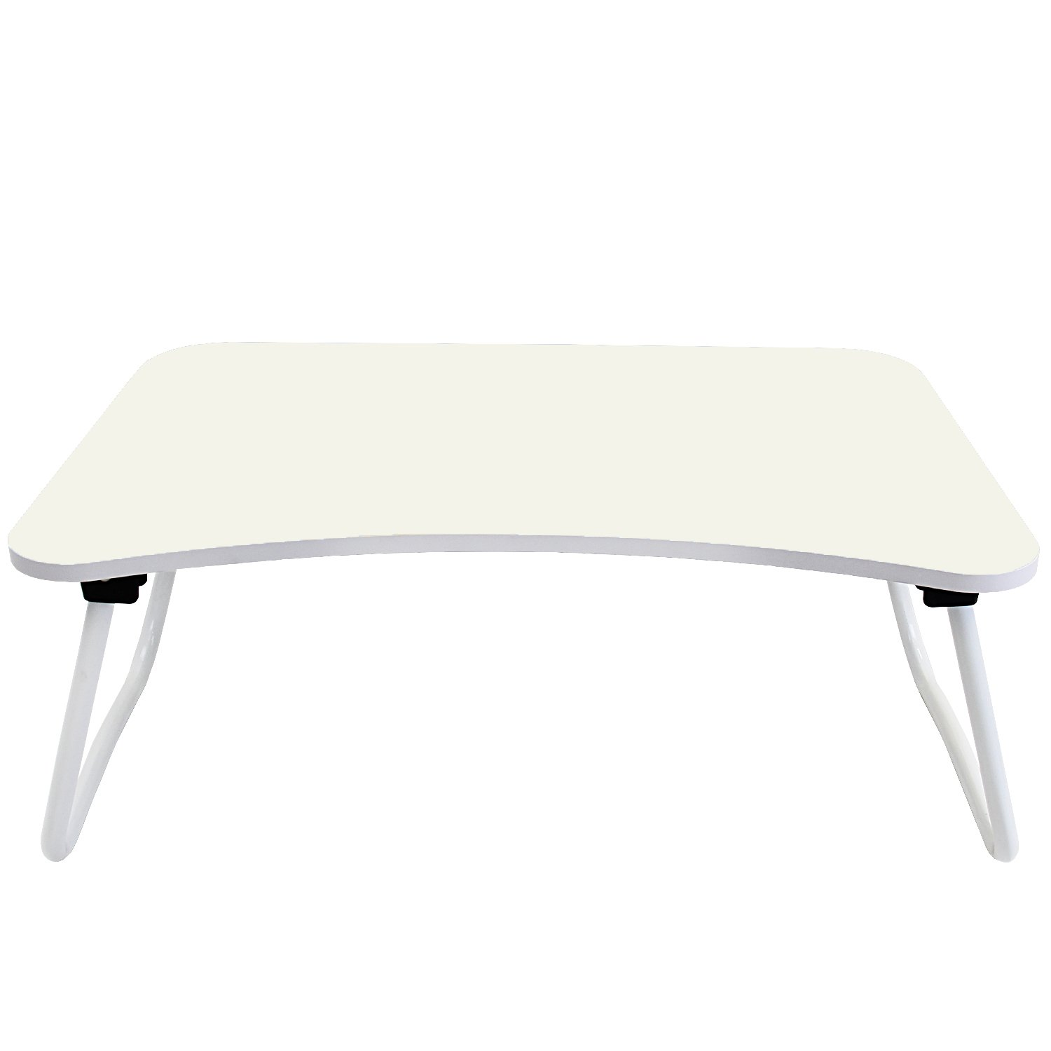 DL furniture - Portable Lap Desk With Foldable Bottom, W Shape Legs Perfect For Station Your Laptop Tablet on Your Bed   White