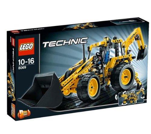 Technic - Backhoe Loader - 8069 + Technic - Mini Container Truck - 8065