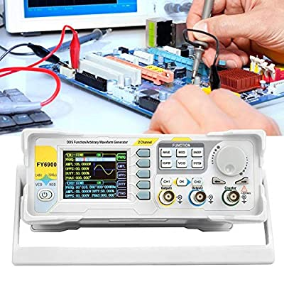 Digital Signal Generator, Signal Frequency Meter, Sine 0-40 MHZ Generator Counter with 2.4in TFT Screen for Digital Signal Generator Measurement(White)