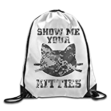 Show Me Your Kitties Sexual Cat Lover Athletic Tote Travel Sports Drawstring Bag
