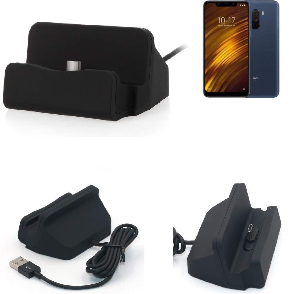 K-S-Trade Dock USB para el Xiaomi Pocophone F1, Negro ...