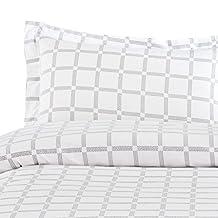 100% Cotton, 3 Piece Duvet Cover and Pillow Shams Set (Queen Size)