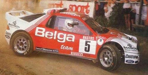 (Scalextric C3637 Ford RS200 - 24hr Rally D'Ypres 1986, No. 5 Belga Team )
