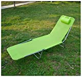 Unbranded* Outdoor Folding Reclining Beach Sun Patio Chaise Lounge Chair Pool Lawn Lounger (GREEN)