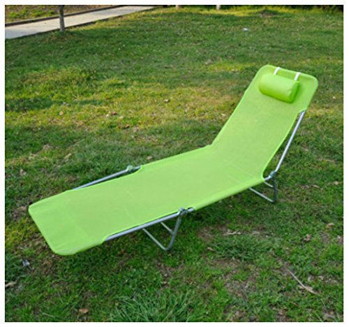 Unbranded* Outdoor Folding Reclining Beach Sun Patio Chaise Lounge Chair Pool Lawn Lounger (GREEN) by Unbranded*