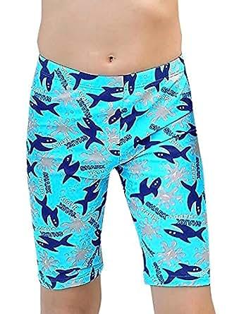 Aivtalk Boy Cartoon Printed Swimming Shorts Sun Protecton Polyster Swimwear Quick Dry Bathing Suit M Blue