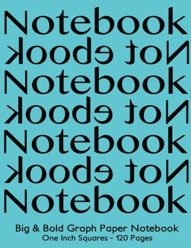Big-Bold-Low-Vision-Graph-Paper-Notebook-One-Inch-Squares-120-Pages-85x11-Notebook-Not-Ebook-black-on-turquoise-cover-Bold-5pt-distinct--for-math-handwriting-composition-notes
