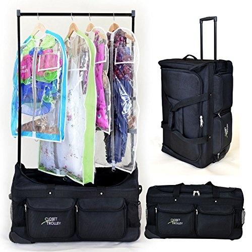 Closet Trolley Dance Bag With Garment Rack Black Dance